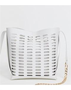 Белая сумка с ручкой цепочкой Faith