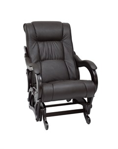 Кресло качалка М 78 Венге экокожа Dundi 108 Leset