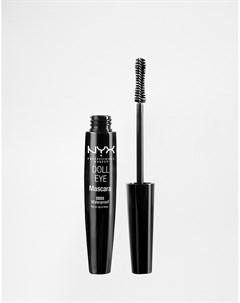 Водостойкая тушь для ресниц NYX Professional Make Up Doll Eye Черный Nyx professional makeup