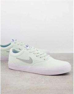 Светло зеленые парусиновые кроссовки Charge Nike sb