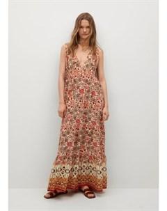 Струящееся платье с принтом Saffron Mango