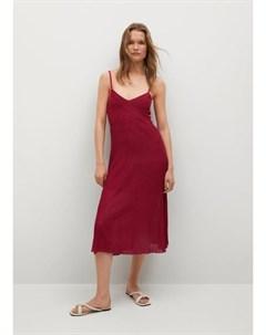 Платье из трикотажа в рубчик Baute Mango