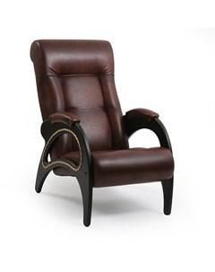 Кресло для отдыха Модель 41 Венге экокожа Antik crocodile Leset