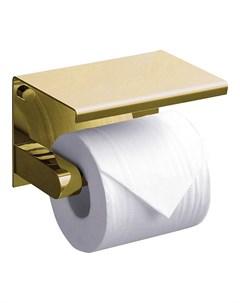 Держатель туалетной бумаги с полкой Edge ED77141 Gold Rush