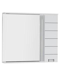 Зеркало шкаф Доминика 100 LED белый Aquanet