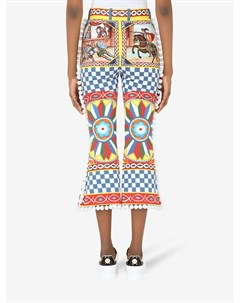 Укороченные брюки с графичным принтом Dolce&gabbana