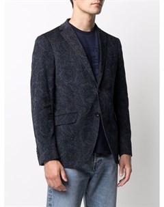 Жаккардовый пиджак с цветочным узором Etro