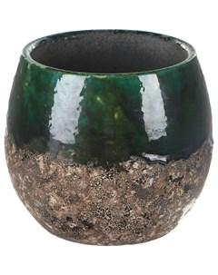 Кашпо Lindy зелёный чёрный д16в13 Ter steege