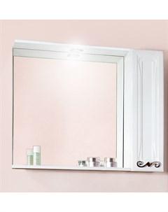Зеркало шкаф Адель 85 белый глянец Бриклаер