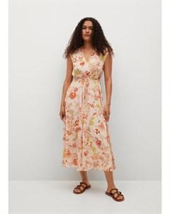 Фактурное платье с принтом Windo Mango