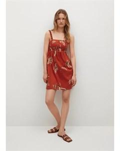 Хлопковое платье с принтом Fun Mango