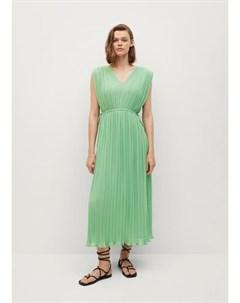 Миди платье с плиссировкой Rome Mango