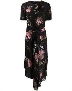 Платье асимметричного кроя с цветочным принтом Preen line
