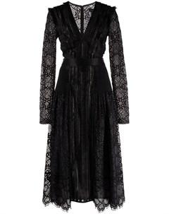 Кружевное платье с V образным вырезом Tadashi shoji