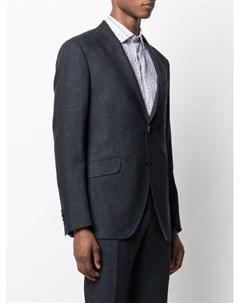 Однобортный пиджак с принтом пейсли Etro
