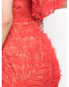 Платье Samsara Blooming с оборками Tadashi shoji