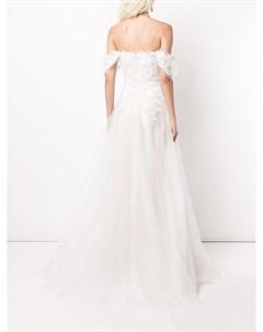 Свадебное платье Pierce с цветочной вышивкой Tadashi shoji