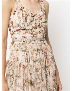 Платье макси с цветочным принтом Needle & thread