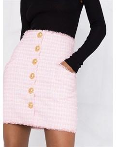 Твидовая юбка с завышенной талией Balmain