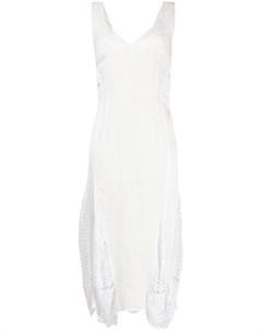 Платье миди с ажурными вставками Almaz