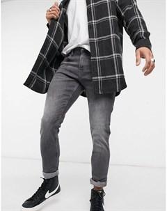 Серые выбеленные джинсы скинни Tom tailor