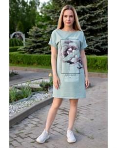 Платье трикотажное Ивонна зеленое Инсантрик