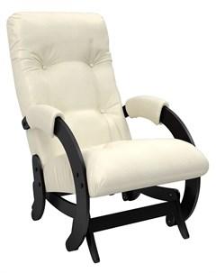 Кресло качалка глайдер Модель 68 Венге экокожа Dundi 112 Leset