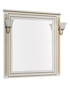 Зеркало Паола 90 белое золото 186108 Aquanet