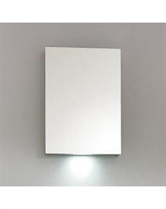 Зеркальный шкаф 50 с подсветкой белый SPC 1A DL BL 500 Belbagno