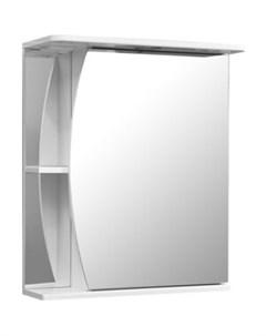 Зеркало шкаф Лана 60 с подсветкой правый белый SP 00000049 Stella polar