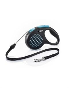 Design M Поводок рулетка для собак синяя трос Flexi