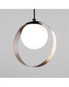 Подвесной светильник со стеклянным плафоном 50205 1 черный бронза Dublin Евросвет