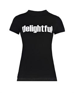 Черная футболка с принтом Delightful Scrambled ego