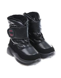 Черные глянцевые мембранные сапоги детские Jog dog