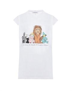 Белая футболка с принтом Страна ОЗ Scrambled ego