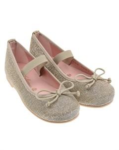 Туфли с золотистой отделкой Pretty ballerinas