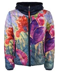 Двухстороння куртка синий цветочный детская Freedomday