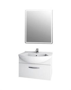Мебель для ванной Alfa 65 с ящиком белый глянец Dreja