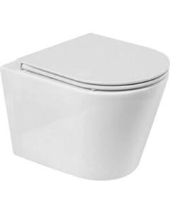 Унитаз подвесной Marmi безободковый сиденье микролифт BB053CHR BB870SC Belbagno