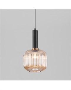 Подвесной светильник 50182 1 Bravo янтарный Евросвет