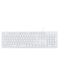 Клавиатура 500M белый Oklick