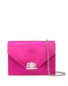 Атласная сумка на плечо с кристаллом Marchesa