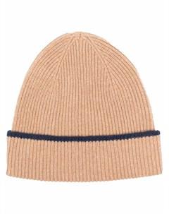 Кашемировая шапка бини в полоску Eleventy