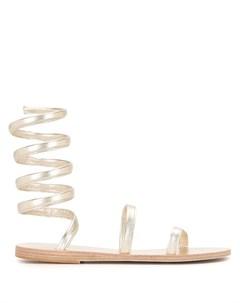 Сандалии с завязками на щиколотке Ancient greek sandals