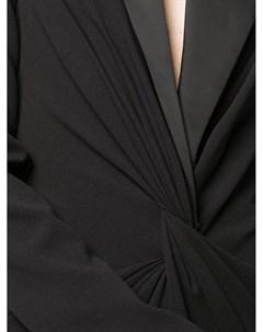 Платье с драпировкой и заостренными лацканами Tadashi shoji