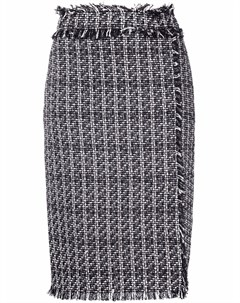 Твидовая юбка карандаш с разрезом Msgm