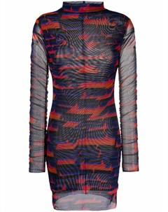 Платье мини с геометричным принтом Patrizia pepe