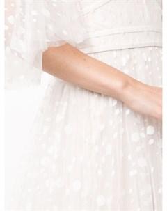 Свадебное платье с открытыми плечами Tadashi shoji