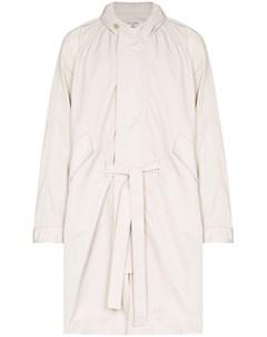 Пальто Cloak с поясом и капюшоном Our legacy