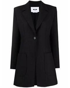 Однобортный пиджак строгого кроя Msgm